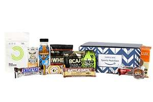 £10 Amazon sports nutrition sample box with £10 voucher for future purchases Prime Exclusive
