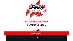 20% Discount Code for tickets to PC Gamer Weekender OLYMPIA LONDON 17 & 18 FEBRUARY 2018