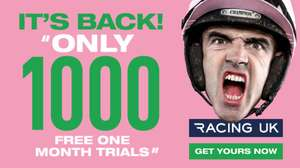 Racing UK free 1 month trial