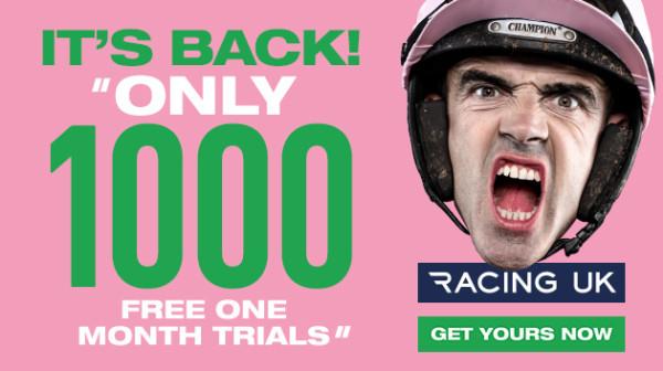 Racing UK free 1 month trial