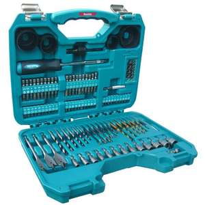 Makita Power Drill Accessory Set (100 Pieces) - was £24.99 now £19.99 (Prime) / £20 (Non Prime) @ Amazon / screwfix