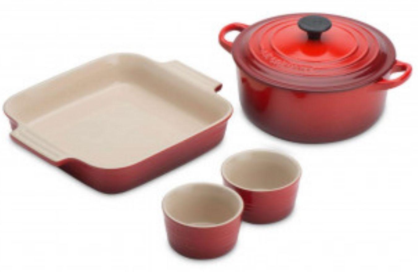 Le Creuset Cookware Starter Set - Cerise £86.36 delivered using code @ Steamer trading (other colours see desc)