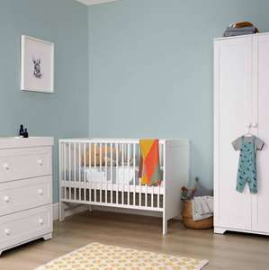 Rye Compact Cotbed 3 Piece Wooden Nursery Furniture Set - White - Mamas & Papas - £299
