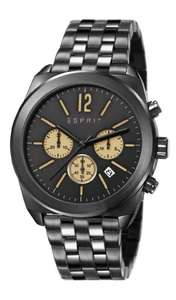Esprit Dylan Chrono Men's Quartz Watch with Black Dial Chronograph Display and Black Stainless Steel Bracelet ES107571005  - was £142.50 now £40.50 @ Amazon