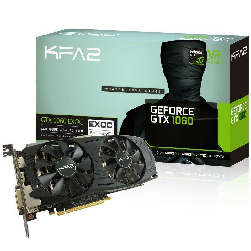 KFA2 Geforce GTX 1060 EXOC 6GB VERSION £229.99 / £239.89 delivered @ Overclockers