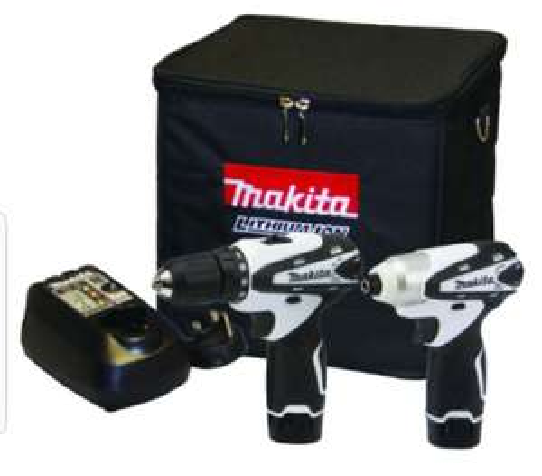 Makita DK1493WX 10.8V Li-Ion Cordless Combi Drill & Impact Driver Twin Pack £100 @ Wickes
