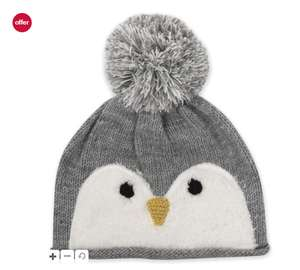 Cute owl- penguin? hat age 3-6 years £2.10,mini club baby+kids up to 70% off sale @ instore,boots