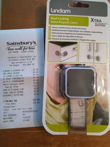 Sainsbury's baby event - Lindam dual locking multi purpose latch £2.33 instore