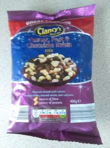 Aldi peanut,fruit and chocolate raisin mix 400g 49p
