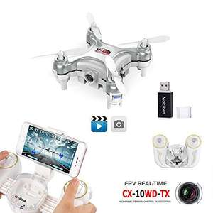 35% off on WIFI MINI Drone With 0.3MP Camera £27.75 Sold by Unipro Tek and Fulfilled by Amazon