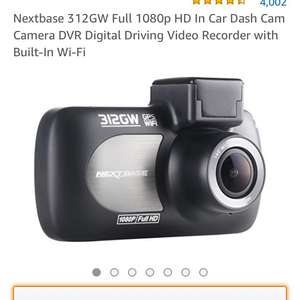 NextBase Dash Cam various discounts 10-12% - Nextbase 312GW Full 1080p HD In Car Dash Cam Camera £88.95 Sold by iZilla and Fulfilled by Amazon