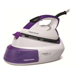 Morphy Richards 333000 Steam Generator 2600 watt Iron up to 90g steam output in White & Purple £49 @ Hughes