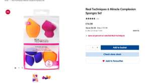 25% off selected Real Technique brushes, sponges & sets at Boots e.g - Real Techniques 6 Miracle Complexion Sponges £14.99
