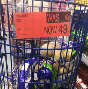 2 kg White Potatoes 49p -  in store @ B&M.