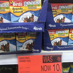 Birds Brandy Sauce 500g - 10p in store at B&M.