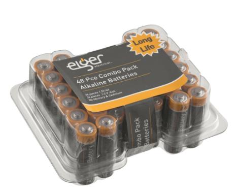Eiger Alkaline Battery Combo Pack 24 x AA 24 x AAA £3.50 @ Homebase