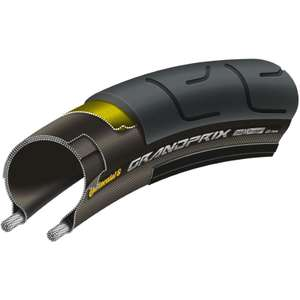 Continental Grand Prix Road Bike Tyre Black 23mm 700c £16.99 @ Wiggle