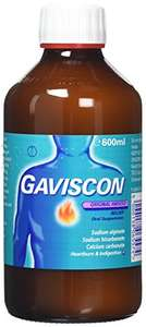Gaviscon Original Aniseed Relief Oral Suspension, 600ml £8 @ Amazon UK non prime (+£1.99 to £4.75)