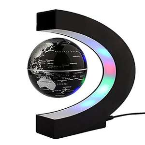 Levitating Globe, C Shape Floating Globe With LED Lights Magnetic Field Levitation World Map £18.39 Prime £23.14 Sold by zjchao and Fulfilled by Amazon. something different...
