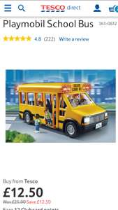 Playmobil School Bus - Tesco £12.50