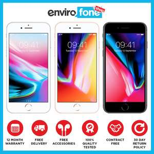 Apple iPhone 8 Plus Unlocked Sim Free New Smartphone 256gb boxed £699 @  envirofoneshop ebay