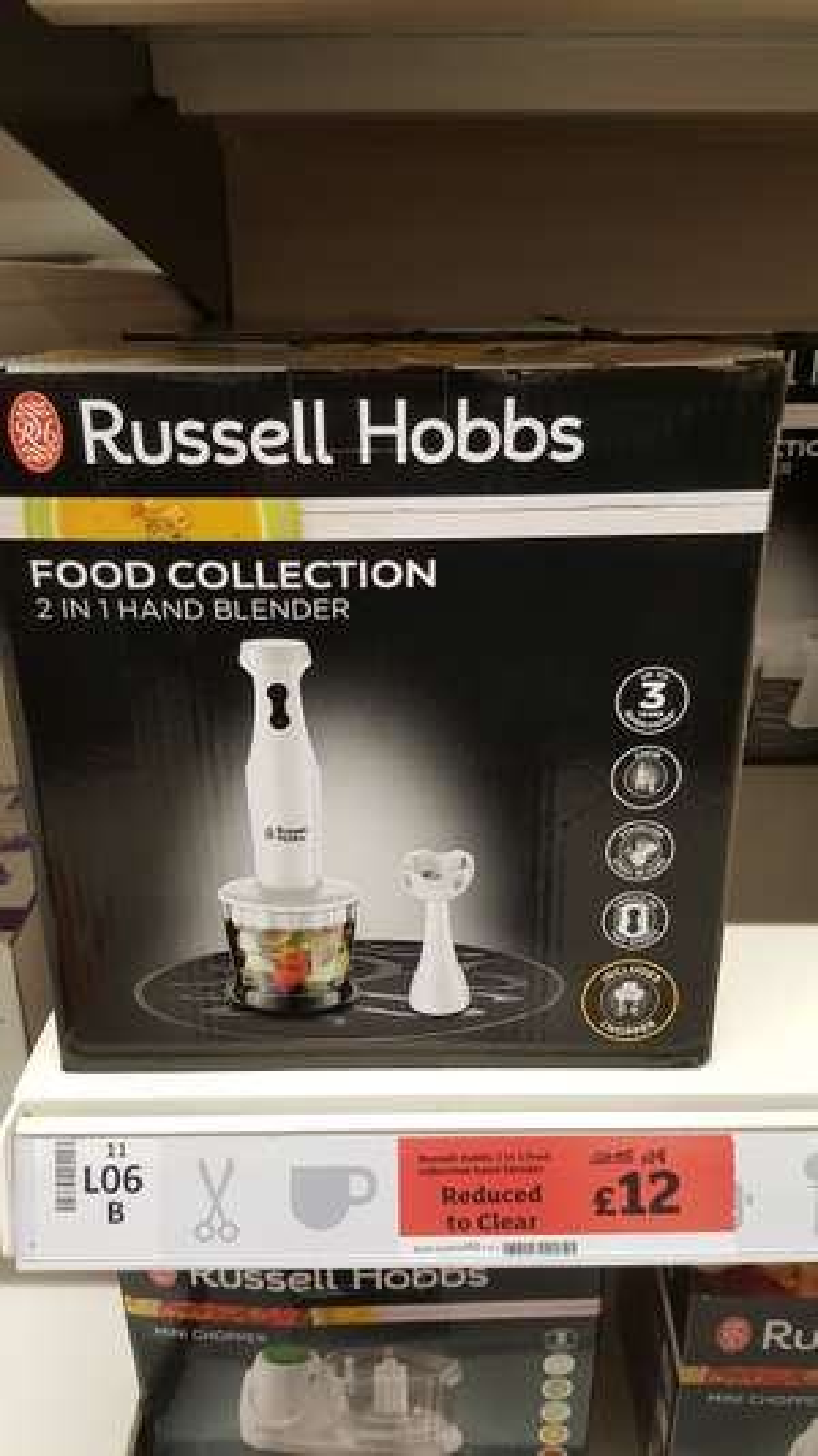 Russell Hobbs 2 in 1 Hand Blender & Chopper £12 @ Sainsbury's instore