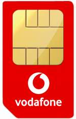 Vodafone Red Entertainment Sim Only 12M Plan £18pm (8GB Data, Unlimited Calls & Texts) + £96 Cashback @ e2save