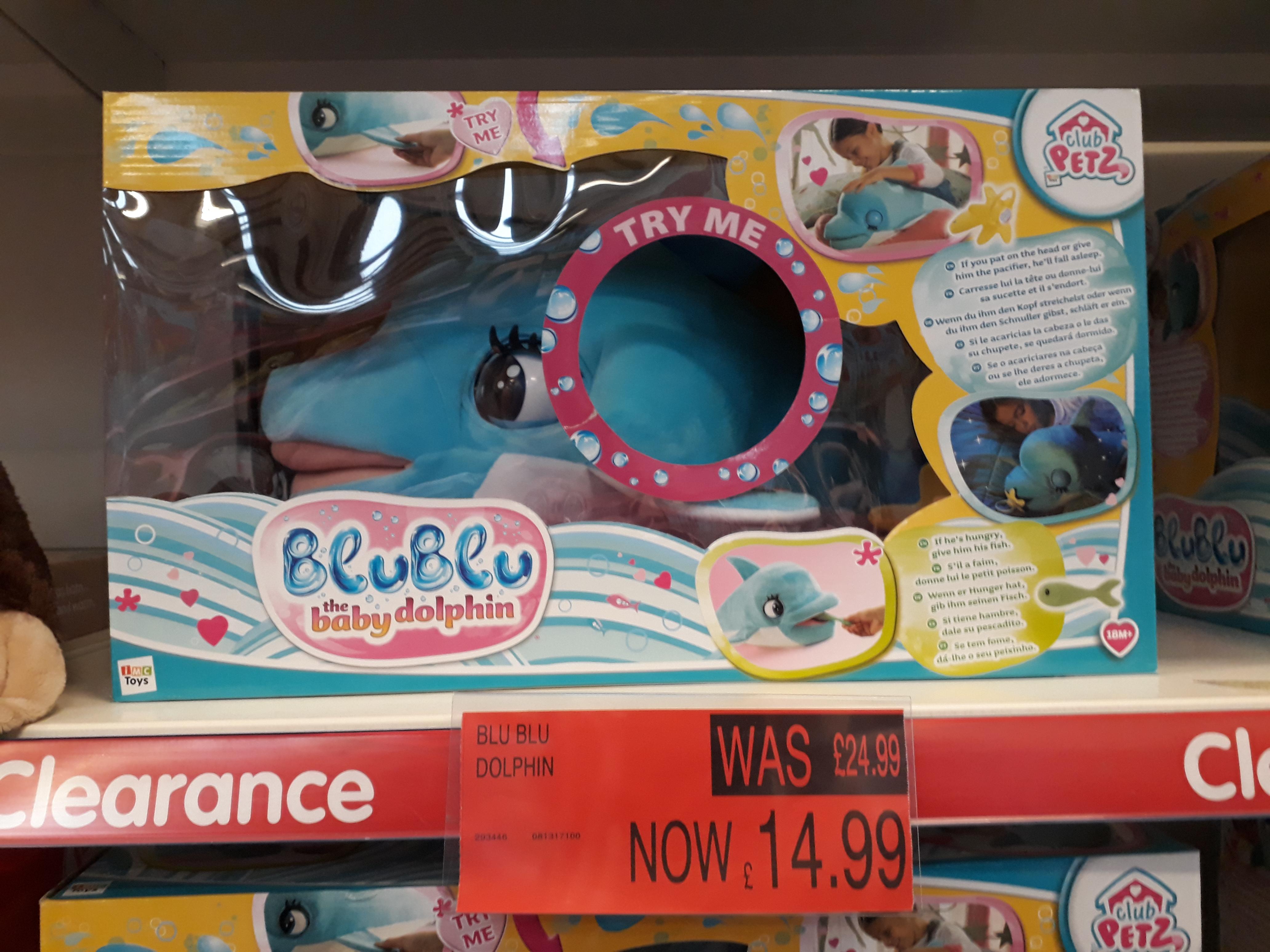 Blu Blu the Dolphin £14.99 B&M In Store Full Size Dolphin (BluBlu)