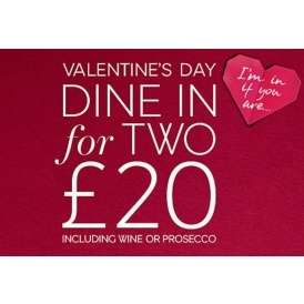 M&S Valentines Meal Deal - Meal for two - Starter - Main - Side - Dessert -  Bottle of wine/prosecco/cava -  Box of chocolates £20 @ M&S (From 9th Feb)