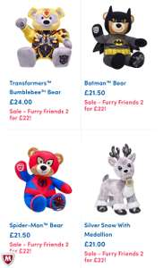 2 for £22 @ Build a bear (20 Different Bears) plus £3.99 p&p