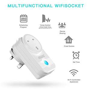WiFi Plug £12.99 for 1 or £22.9 for 2 at Amazon lightning deal (Sold by SZMDLX-UK and Fulfilled by Amazon)