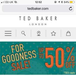 Ted Baker upto 50% off sale plus additional 10% off with code