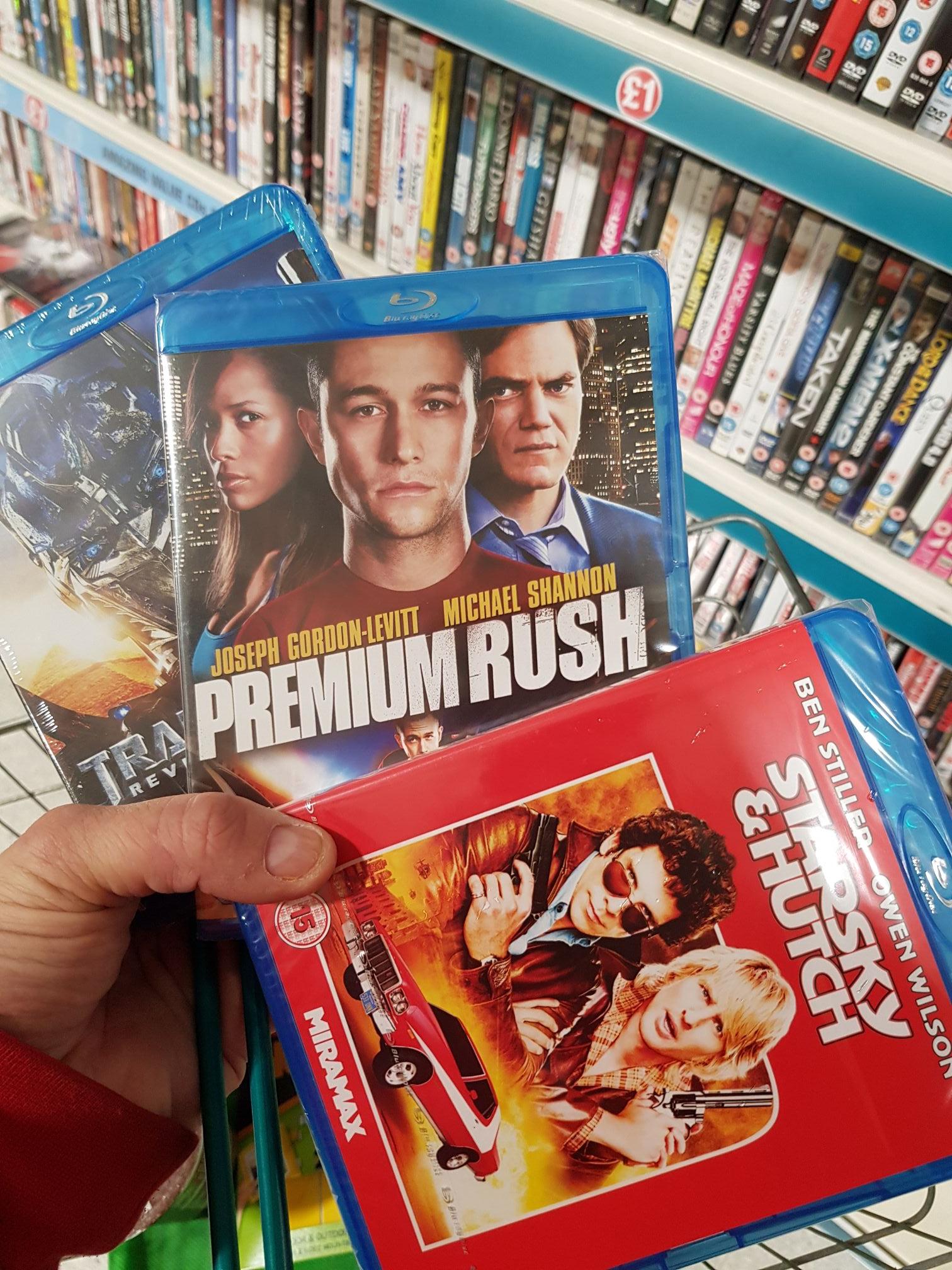 Premium rush plus others on bluray. £1 @ poundland