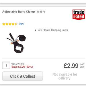 Band Clamp £2.99 C+C @ Screwfix
