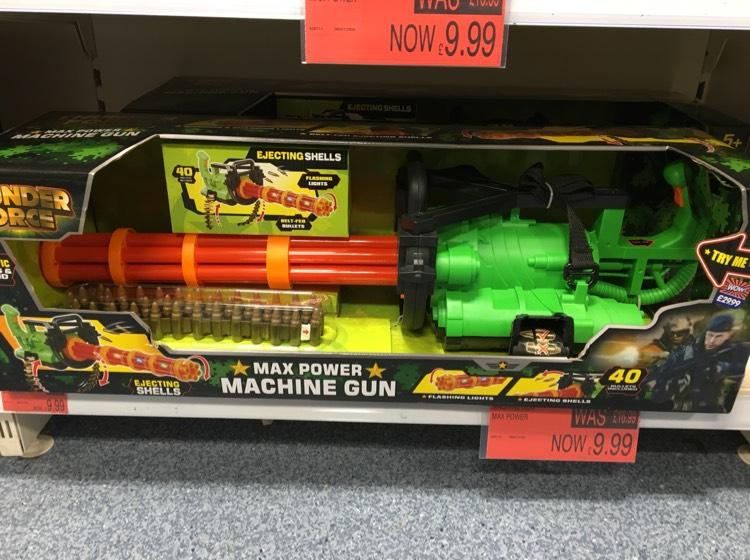Kids mini gun £9.99 @ B&M - Walsall