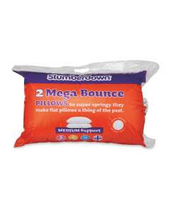 Slumberdown Mega Bounce Pillow Pair 2 Pack £4.99 delivered @ Aldi
