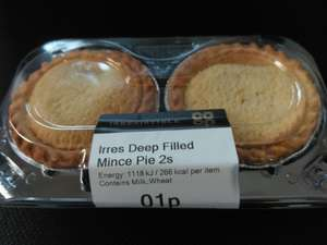 Fresh Irres Deep Filled Mince Pie 2s 1p / Co-op in store