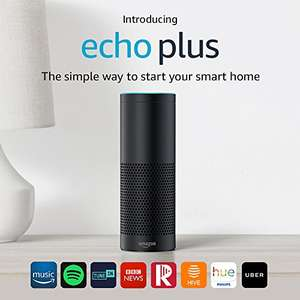 Echo Plus with free Philips Hue White E27 Edison Screw Light Bulb - £139.99 @ Amazon.co.uk