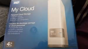 WD My Cloud 4tb personal cloud storage £149.99 instore @ Tesco Leicester
