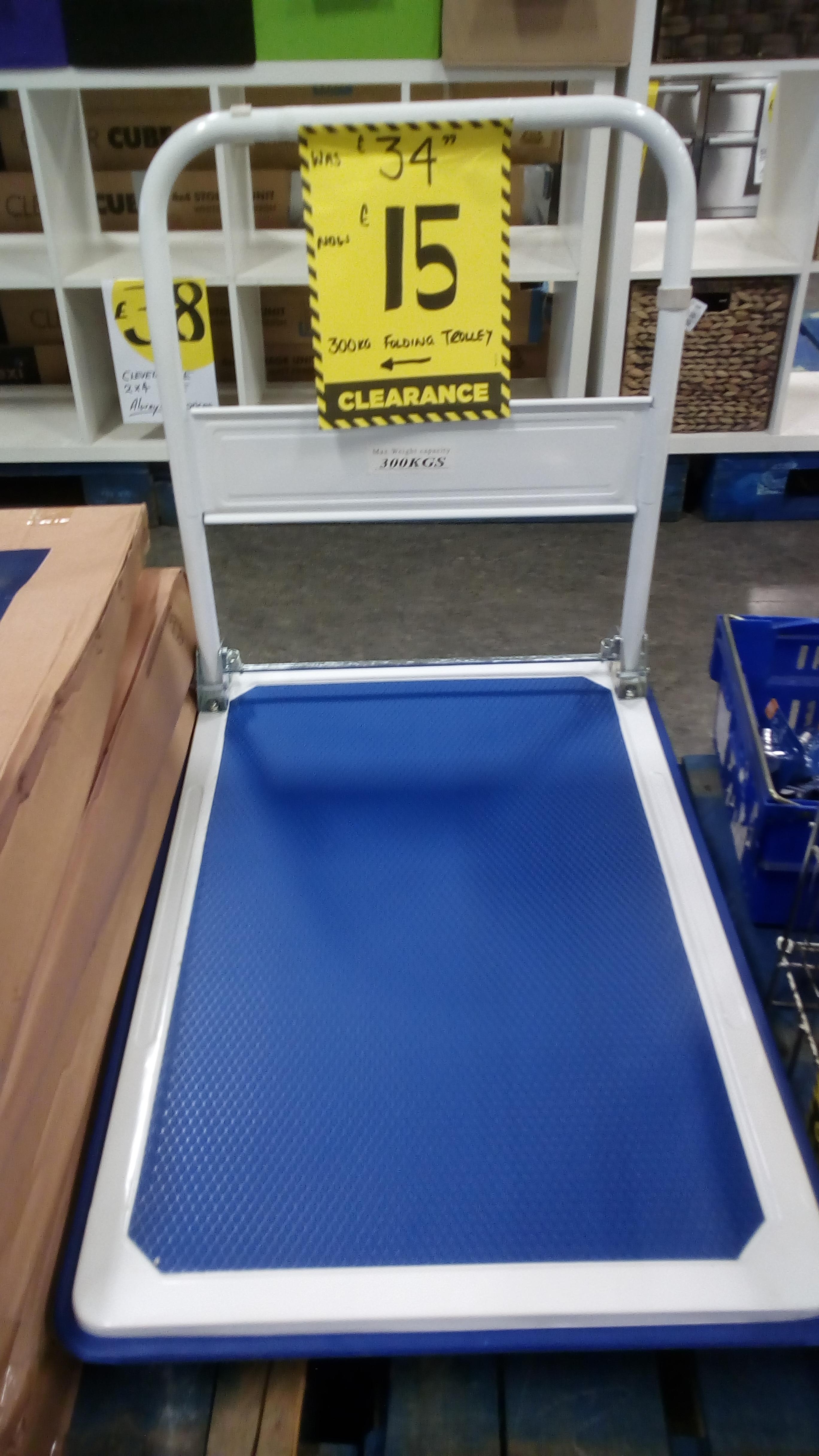 SAXON Folding Platform Trolley- 300KG £15 @ HOMEBASE MERTON