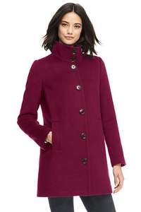 Smart Petite Stand Collar Coat £41.45 delivered with code @ Landsend