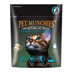 Pet Munchies Cat Treats Natural Gourmet Fish Fillet 10 g, Pack of 8 £2.79 Amazon add on (or s&s)