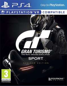[PS4/VR] Gran Turismo Sport Day One Edition - £17.02 (As New) - Amazon/Boomerang
