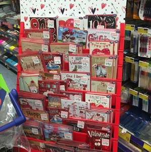 Half price Valentine's cards in B&M. 49p and 74p