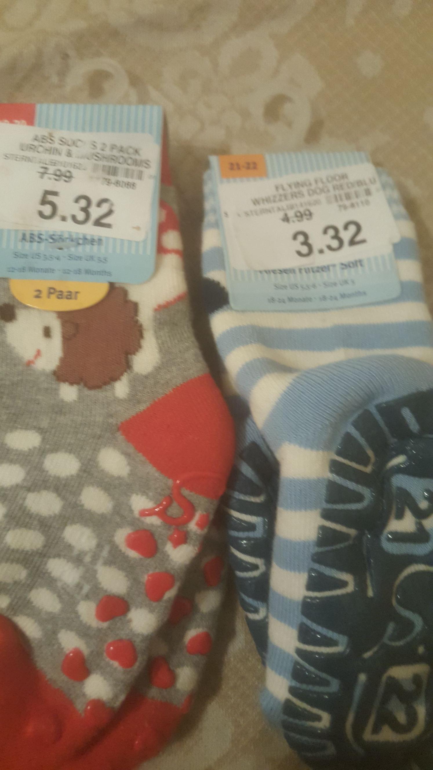 Baby r us socks 96p instore - st andrew