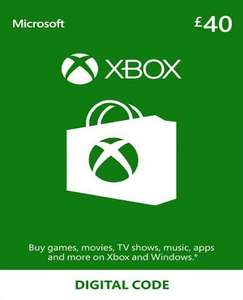 £40 Xbox Live Gift Card - £35 - NoKeys discount deal