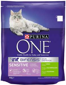 Purina ONE Bifensis Sensitive Rich in Turkey and Rice 800g £3.32 (or less) delivered on S&S /  OR £3.50 one-time purchase @ Amazon (Add on Item)