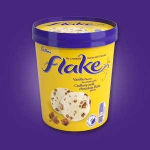 Cadbury Flake Ice Cream £0.50 in-store Tesco Forge GLASGOW 480ml (possibly store specific)