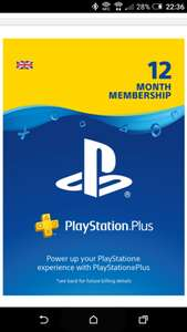 12 Month PSN £38.86 @ ShopTo