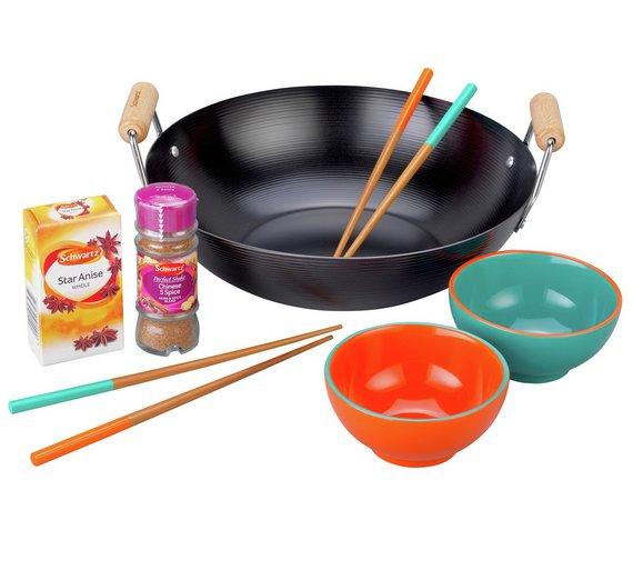 Schwartz Chinese Wok Gift Set at Argos for £8.99
